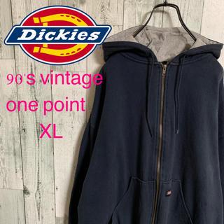 ディッキーズ(Dickies)の90's DICKIES ディッキーズ  サーマル裏地 ゆるだぼ パーカー 希少(パーカー)