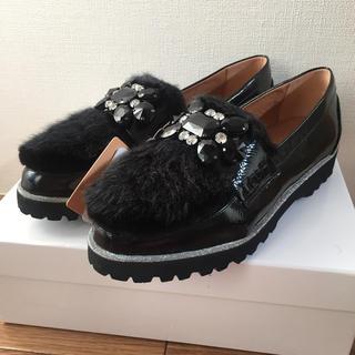 スコットクラブ(SCOT CLUB)の専用!!!【新品】PECHINCHAR  黒のエナメルローファー 37(ローファー/革靴)