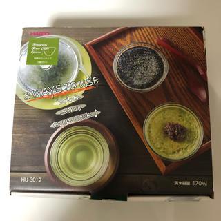 ハリオ(HARIO)のHARIO ハリオ  耐熱ガラスカップ(5個セット)※新品未使用(食器)