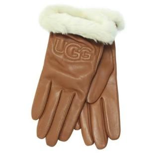 アグ(UGG)の【S】UGG アグ/レザー手袋/CLASSIC LEATHER LOGO/CHE(手袋)