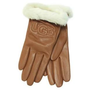 アグ(UGG)の【M】UGG アグ/レザー手袋/CLASSIC LEATHER LOGO/CHE(手袋)