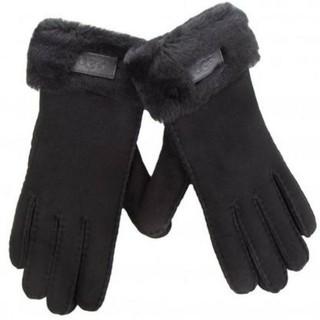 アグ(UGG)の【M】UGG アグ/手袋/ターンカフグローブ/BLACK(手袋)
