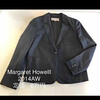 マーガレットハウエル(MARGARET HOWELL)のセール!マーガレットハウエルテーラードジャケットネイビーサイズ1(テーラードジャケット)