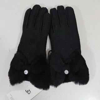 アグ(UGG)の【S】UGG アグ/手袋/W BOW SHORTY GLOVE/ブラック(手袋)