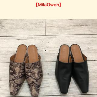 ミラオーウェン(Mila Owen)のMila owenミディーヒールミュール(ミュール)