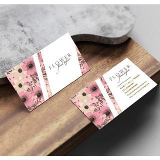セミオーダー!プロのデザイナーが作る商業印刷の高品質名刺両面100枚/Y0057(その他)