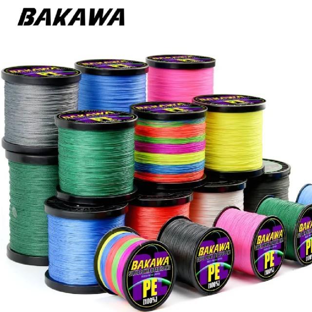 BAKAWAブランドPEライン4ストランド(4本編み)300mピンク#1.0 スポーツ/アウトドアのフィッシング(釣り糸/ライン)の商品写真