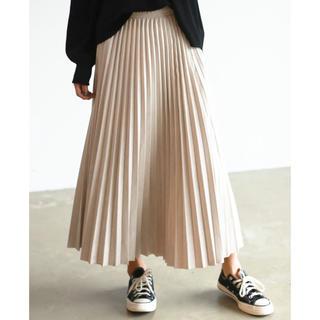アンティローザ(Auntie Rosa)の☆新品未使用☆スウェードプリーツスカート(ロングスカート)