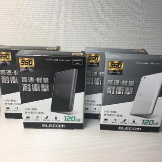 エレコム(ELECOM)の新品・未開封 ELECOM エレコム 外付けSSD 120GB(PC周辺機器)