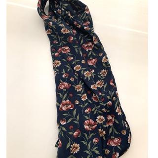 スタディオクリップ(STUDIO CLIP)の細幅マルチスカーフ ネイビー 花柄(バンダナ/スカーフ)