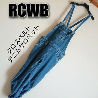 ロデオクラウンズ(RODEO CROWNS)のRCWB バッククロスベルト デニムサロペット(サロペット/オーバーオール)