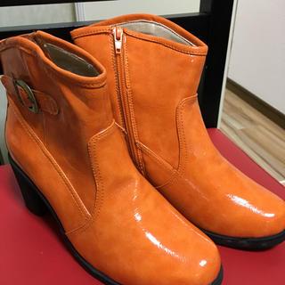 ショートブーツ  オレンジ(ブーツ)