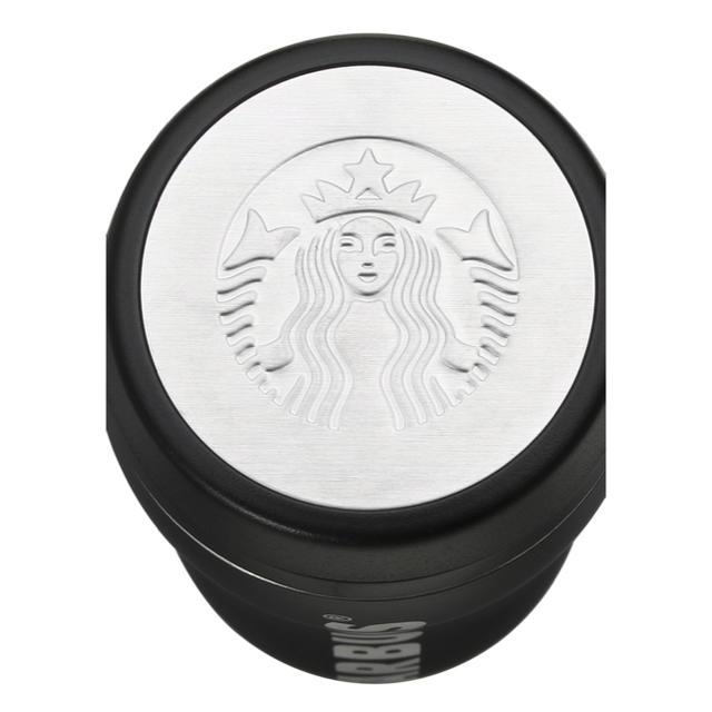 Starbucks Coffee(スターバックスコーヒー)のスタバ ステンレスボトル マットブラック ドリンクチケット付き 食品/飲料/酒の食品/飲料/酒 その他(その他)の商品写真