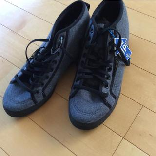 アディダス(adidas)の未使用品! adidas ハイカットスニーカー 25cm インソールで脚長効果(スニーカー)