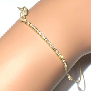 アーカー(AHKAH)のアーカー AHKAH ティナコード ブレスレット  k18yg ダイヤモンド(ブレスレット/バングル)