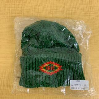 アイリーライフ(IRIE LIFE)の◆新品未使用◆irie life 子供用 ニット帽 グリーン(帽子)