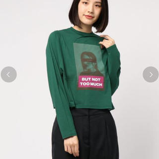 スライ(SLY)のSLY 今季 ロングTシャツ グリーン F 超美品(Tシャツ(長袖/七分))