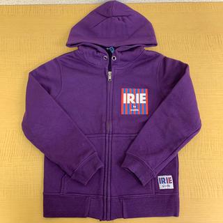 アイリーライフ(IRIE LIFE)の【古着】irie life 子供用ジップアップパーカー 110サイズ パープル(Tシャツ/カットソー)