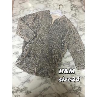 エイチアンドエム(H&M)の⑥⓪⑧H&M スパンコール コート ジャケット size34Mの人でも着れます(その他)