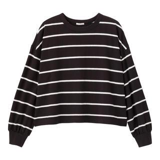 ジーユー(GU)のGU ボーダーオーバーサイズT(長袖)JN(Tシャツ(長袖/七分))