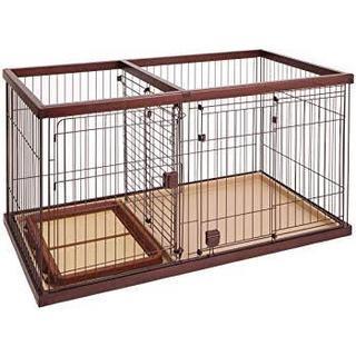 リッチェル(Richell)の・リッチェル 木製ペットサークル S 966665 (2Way方式) (犬)