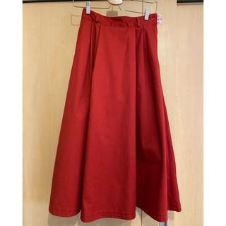 ディッキーズ(Dickies)のDickies 赤 ロングスカート(ロングスカート)