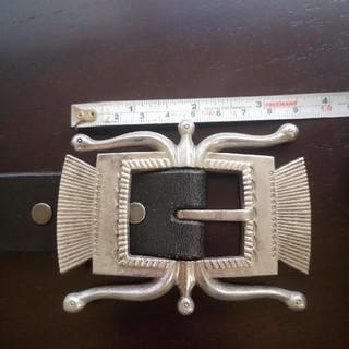 ダブルアールエル(RRL)のRRL 真鍮バックルスタッズベルト(ベルト)