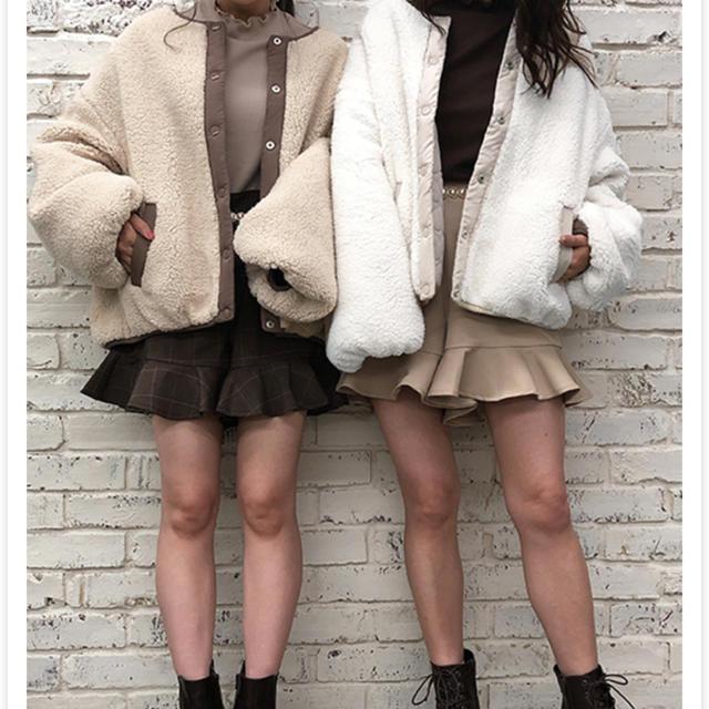 one after another NICE CLAUP(ワンアフターアナザーナイスクラップ)のハートキルティングリバーシブルボアブルゾン💓 レディースのジャケット/アウター(ブルゾン)の商品写真