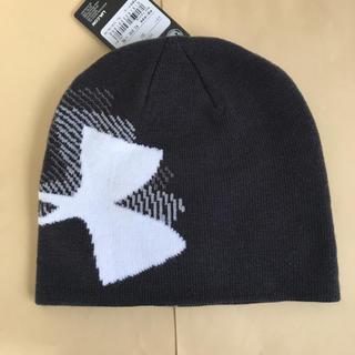アンダーアーマー(UNDER ARMOUR)のアンダーアーマー ニット帽 ビーニー 黒 定価3080円(ニット帽/ビーニー)