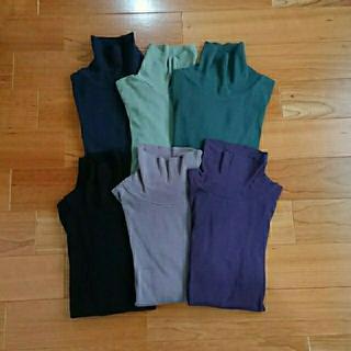 プチバトー(PETIT BATEAU)のプチバトー  タートルネックTシャツ  グリーン  16ans(カットソー(長袖/七分))