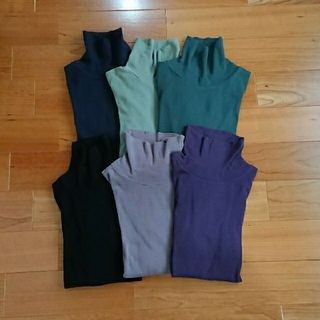 プチバトー(PETIT BATEAU)のプチバトー  タートルネックTシャツ  薄い紫  16ans(カットソー(長袖/七分))