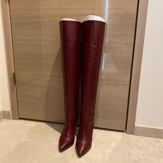 ダイアナ(DIANA)のダイアナ ニーハイブーム 赤 22.5(ブーツ)