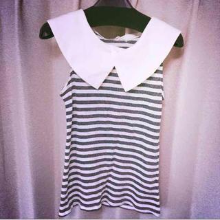 ミスティウーマン(mysty woman)のmysty woman 衿つきトップス(Tシャツ(半袖/袖なし))