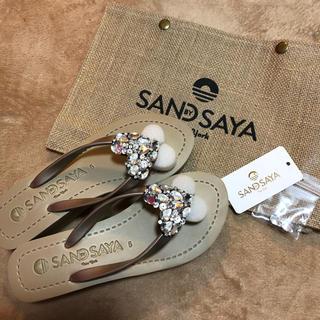 SAND BY SAYA ビーチサンダル ヒール4.6cm(ビーチサンダル)