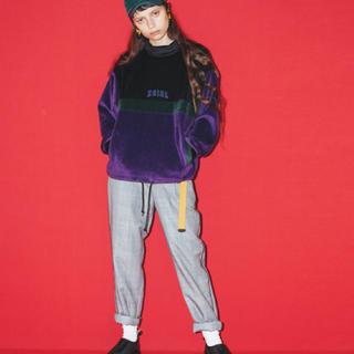 エックスガール(X-girl)のX-girl フリーストップス トレーナー スエット パープル size2(トレーナー/スウェット)