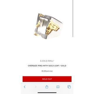 バレンシアガ(Balenciaga)のa cold wall over size ring(リング(指輪))