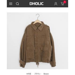 ディーホリック(dholic)のDHOLIC ポケットコーディロイ ジャケット 新品未使用品(ミリタリージャケット)