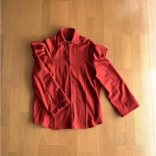 アッシュペーフランス(H.P.FRANCE)のアッシュペーフランス赤チェックネルシャツ(シャツ/ブラウス(長袖/七分))