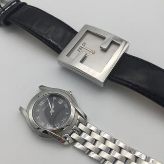 グッチ(Gucci)の腕時計2本 GUCCI &FENDI 動作品 美品 5500Lと4000L(腕時計)
