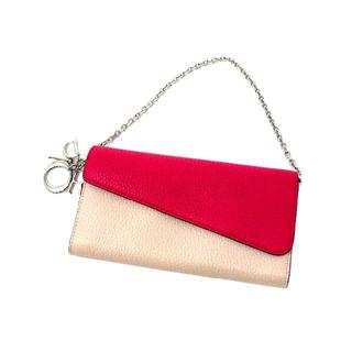 クリスチャンディオール(Christian Dior)のクリスチャン・ディオール ディオリッシモ チェーンウォレット バイカラー(財布)