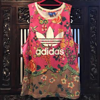 adidas - アディダス ファーム オリジナルス 花柄 トレフォイル タンクトップ Tシャツ