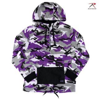 ロスコ(ROTHCO)のROTHCO × VITRIOL アノラック フリースジャケット M 紫 迷彩 (ミリタリージャケット)
