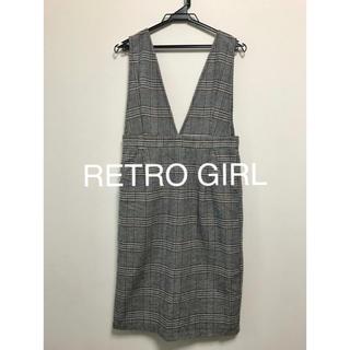 レトロガール(RETRO GIRL)のRETRO GIRL グレンチェック スカート  (ひざ丈ワンピース)