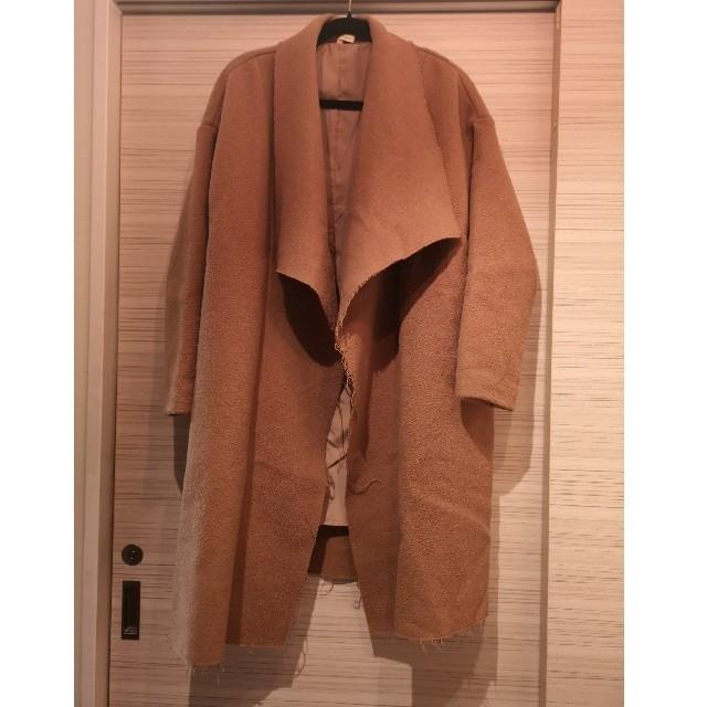Ungrid(アングリッド)のタイムセール✴Ungrid アングリッド ダブルフェイスガウンコート キャメルM レディースのジャケット/アウター(ガウンコート)の商品写真