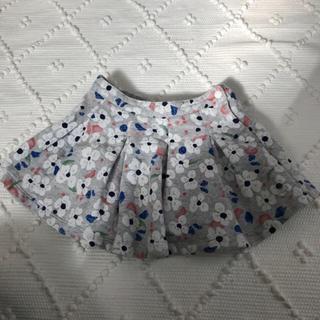 プチバトー(PETIT BATEAU)の美品 プチバトー PETITBATEAU 花柄 スカート  (スカート)