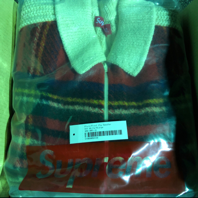 Supreme(シュプリーム)のSupreme plaid front zip sweater シュプリーム メンズのトップス(ニット/セーター)の商品写真