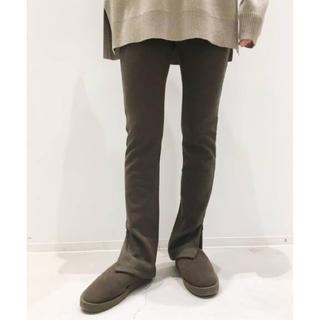 アパルトモンドゥーズィエムクラス(L'Appartement DEUXIEME CLASSE)の新品 アパルトモン Wool Zip Leggings ブラウン(レギンス/スパッツ)