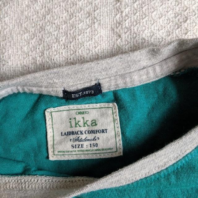 ikka(イッカ)のikka 長袖Tシャツ 150 キッズ/ベビー/マタニティのキッズ服男の子用(90cm~)(Tシャツ/カットソー)の商品写真