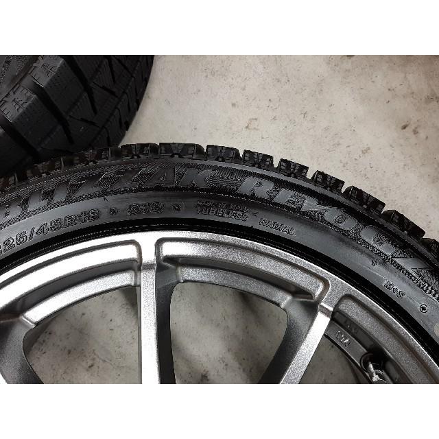 BRIDGESTONE(ブリヂストン)のブリザックレボGZ 18インチ ホイール  225/45R18  スタッドレス 自動車/バイクの自動車(タイヤ・ホイールセット)の商品写真