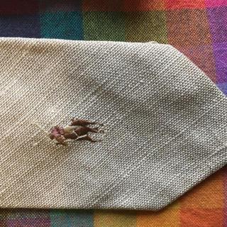 ポロの麻のネクタイ